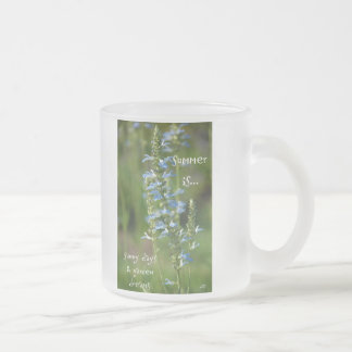Summer is... frosted glass coffee mug