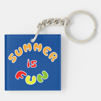 Summer is fun keychain