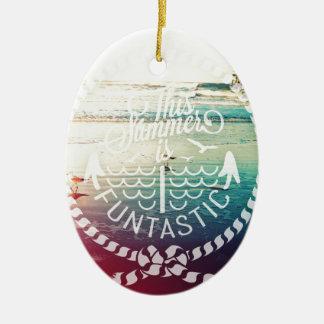 Summer is Funtastic-Birds at Dusk Ceramic Ornament