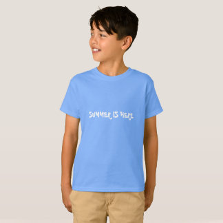 SUMMER IS HERE. LIGHT BLUE TAG-LESS T-SHIRT