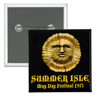 Summer Isle May Day Festival 2 Inch Square Button