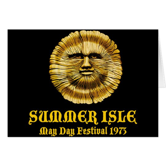 Summer Isle May Day Festival Card