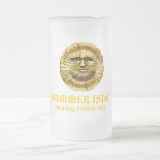Summer Isle May Day Festival Frosted Glass Beer Mug