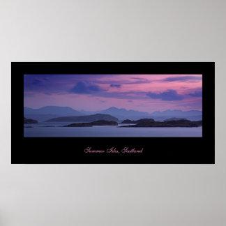 Summer Isles, Scotland. Poster by cARTerART