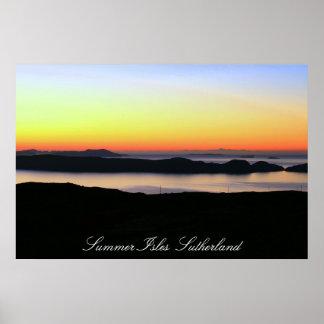 Summer Isles  Sutherland Poster