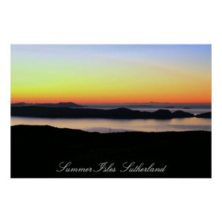 Summer Isles  Sutherland Posters