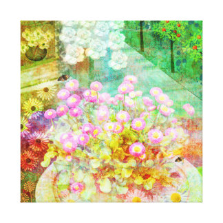 Summer Joy, Artistic floral canvas print
