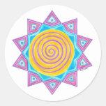 Summer Joy Star Round Stickers