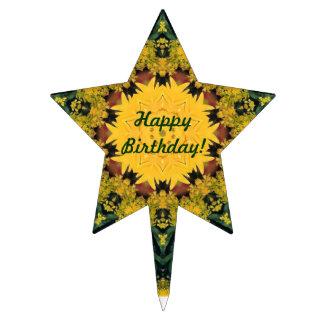 Summer Kaleidoscope Star-Shaped Cake Topper