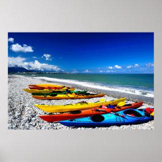 Summer Kayaking Poster