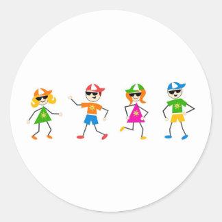 Summer Kids Classic Round Sticker