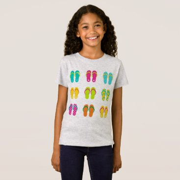 Beach Themed Summer kids tshirt with Shoes