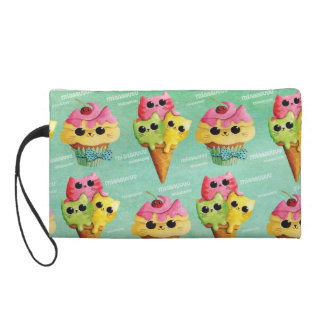 Summer Kitty Cats Madness Wristlet Clutch