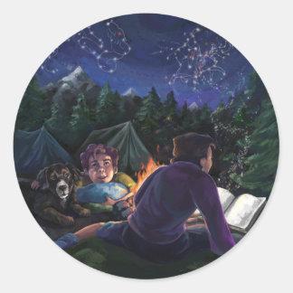 Summer Knights Classic Round Sticker