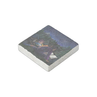 Summer Knights Stone Magnet
