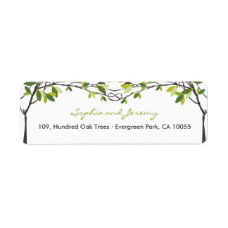 Summer Knotted Love Trees Wedding Address Labels