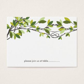 Summer Knotted Love Trees Wedding Place Card