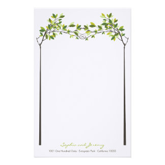Summer Knotted Love Trees Wedding Stationery