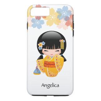 Summer Kokeshi Doll - Yellow Kimono Geisha Girl iPhone 7 Plus Case