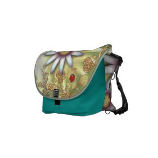 Summer Ladybug Small Messenger Bag