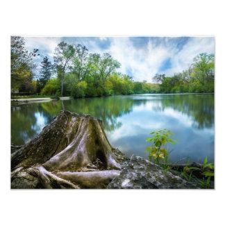 Summer Lake Poster 16x12|Landscape|Customize Size Photo Print
