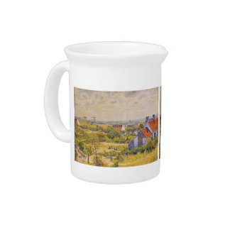 Summer Landscape of the Moor by Theo Rysselberghe Beverage Pitcher