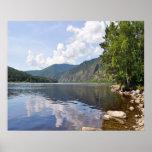 Summer Landscape With River Poster