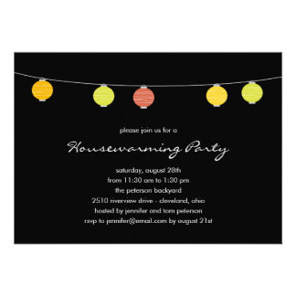 Summer Lanterns Party Invitations Invitation