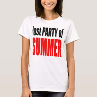 SUMMER LAST party night couple invitation remember T-Shirt