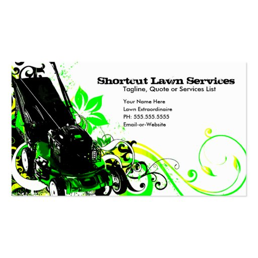 Lawn care business cards ideas joy studio design gallery for Lawn care t shirt designs