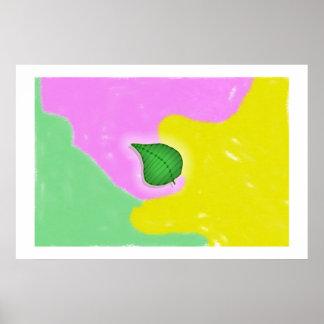 Summer Leaf, Summer Colors Poster