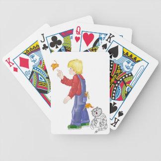 Summer Leaves Poker Cards