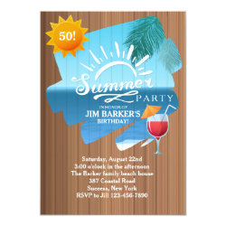 Summer Leisure Party Invitation