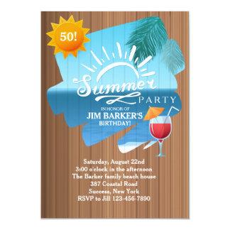 Summer Leisure Party Invitation