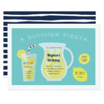 Summer Lemonade Birthday Party Invitation