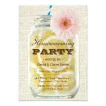 Summer Lemonade Housewarming Party Invitation