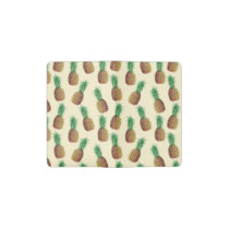 Summer Light Beige Pineapple Pattern Pocket Moleskine Notebook