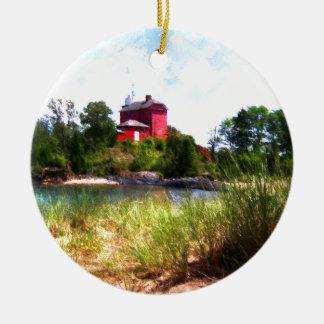 Summer Lighthouse Christmas Ornament
