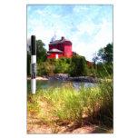 Summer Lighthouse Dry Erase Whiteboard