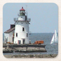 Summer Lighthouse Paper Coaster