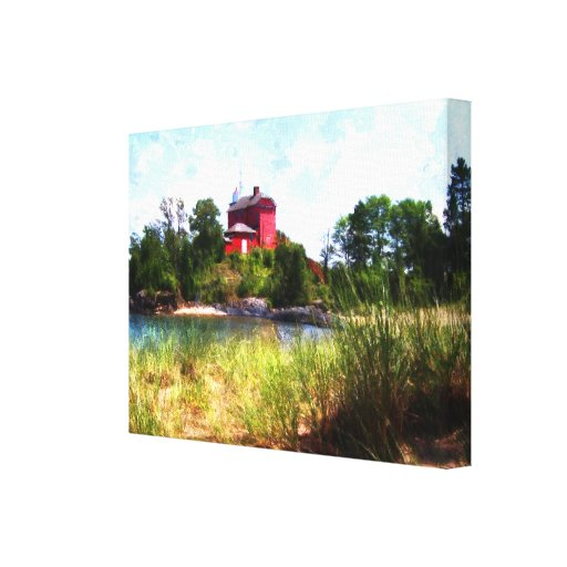 Summer Lighthouse Stretched Canvas Prints