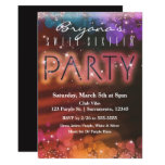 Hand shaped Summer Lights Sparkle Dance Club Party Invitation