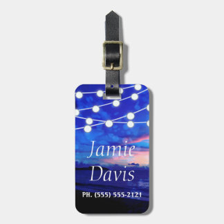 Summer Lights Tropical Beach Luggage Tag