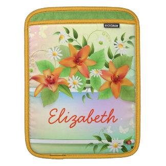 Summer Lily Floral Ipad Sleeve