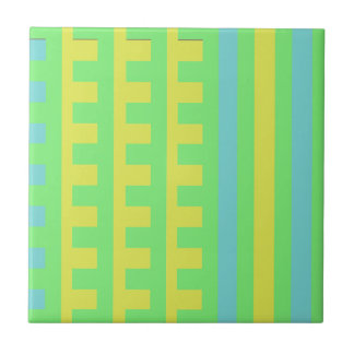 Summer Lime Combs Tooth Ceramic Tile