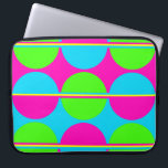 """Summer Lime Green Hot Pink Teal Circles Stripes Computer Sleeve<br><div class=""""desc"""">A fun festive and colorful design for summer. Use lime green, hot pink, teal turquoise blue, and yellow, the pattern has circles or polka dots with alternating colors and stripes. &quot;hot pink&quot; &quot;fuchsia&quot; &quot;teal&quot; &quot;turquoise blue&quot; &quot;circles&quot; &quot;stripes&quot; &quot;polka dots&quot; &quot;geometrical patterns&quot; &quot;summer&quot; &quot;bright and bold&quot; &quot;flamboyant&quot; &quot;colorful&quot; &quot;pretty patterns&quot; &quot;teens&quot;...</div>"""