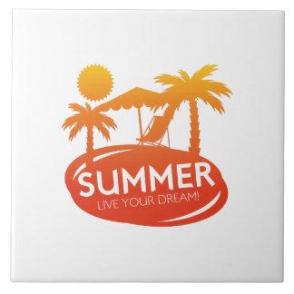 Summer – Live your dream Ceramic Tile