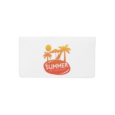 Beach Themed Summer – Live your dream Checkbook Cover