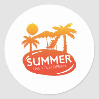 Summer – Live your dream Classic Round Sticker