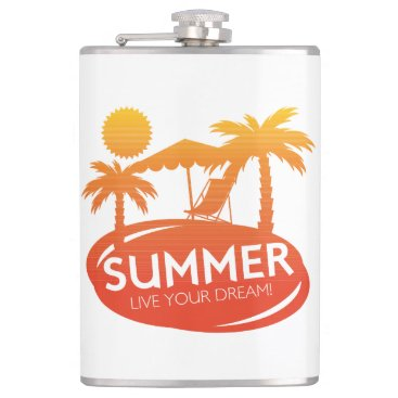 Summer – Live your dream Hip Flask